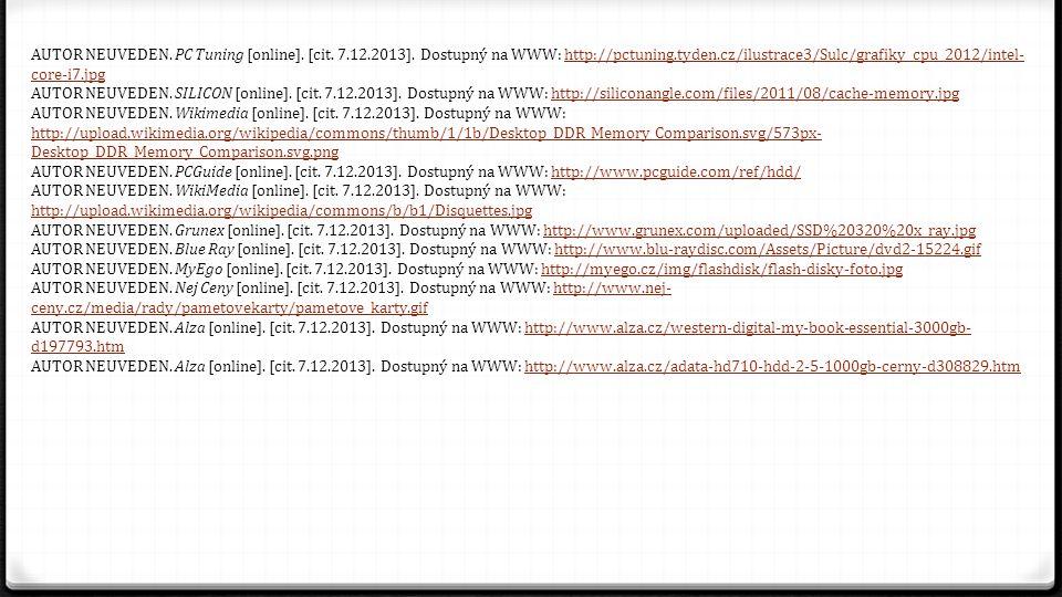 AUTOR NEUVEDEN. PC Tuning [online]. [cit. 7. 12. 2013]